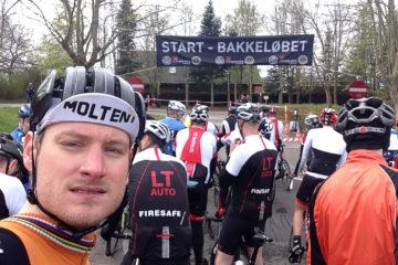 Kasper står klar på startstregen til Bakkeløbet Hørning 2015