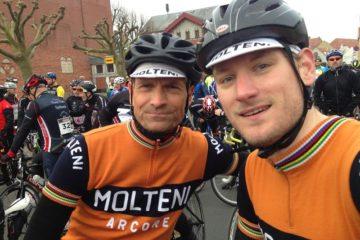 Kasper og Niels står klar på startstregen før Nordfyn Rundt 2015