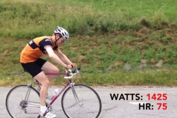 Kaspers rytterdata er blevet offentliggjort. her ses han under Tour De France på Col du Mollard