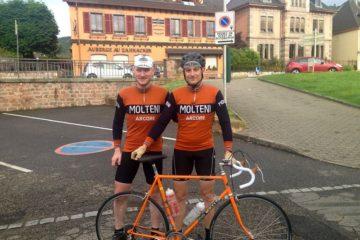 Kasper og Steffan på træningslejr i Alsace