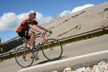 Kasper på vej mod toppen af Mont Ventoux