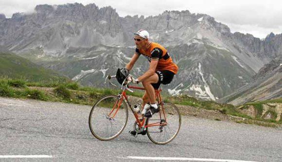 Col de Glandon. Niels på bjergsiden til La Marmotte 2014